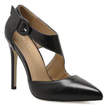 Ankle Buckle Strap Point Toe Pumps