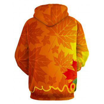 Leaves and Pumpkin Halloween Hoodie - COLORMIX 3XL