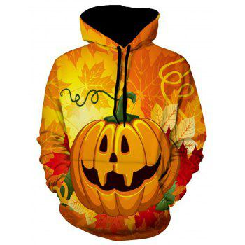 Leaves and Pumpkin Halloween Hoodie