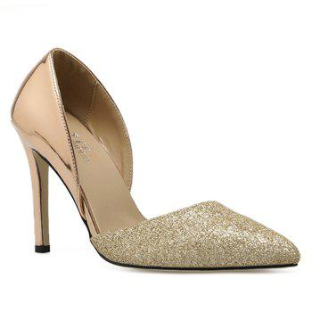 Stiletto Heel Point Toe Metallic Pumps