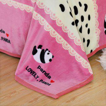 Panda Pattern Soft Bedroom Throw Blanket - PINK PINK