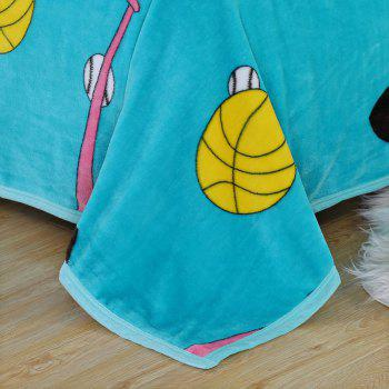Football Printed Sport Soft Throw Blanket - DOUBLE DOUBLE