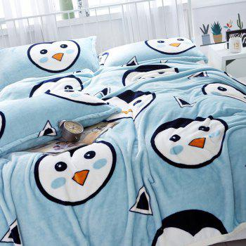 Penguins Print Soft Throw Blanket - DOUBLE DOUBLE