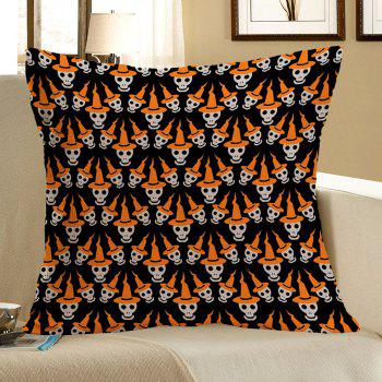 Halloween Multi Skulls Printed Linen Pillow Case - COLORMIX COLORMIX
