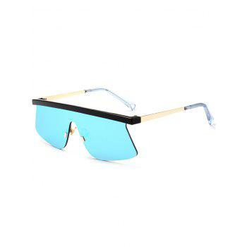 Semi Rimless Mirror Shield Sunglasses - ICE BLUE ICE BLUE