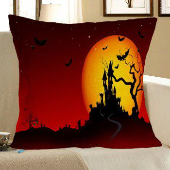 Halloween Castle Blood Starry Moon Printed Pillow Case - COLORFUL COLORFUL
