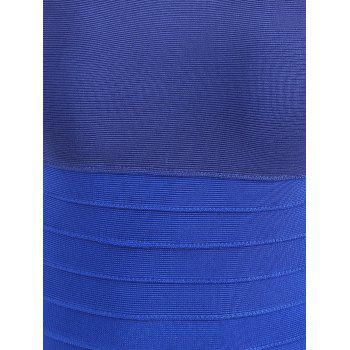 Night Out Ombre Color Bandage Dress - BLUE M