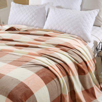 Bedroom Soft Fabric Plaid Throw Blanket - DOUBLE DOUBLE