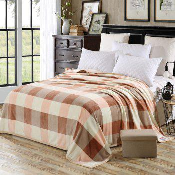Bedroom Soft Fabric Plaid Throw Blanket - CHECKED DOUBLE
