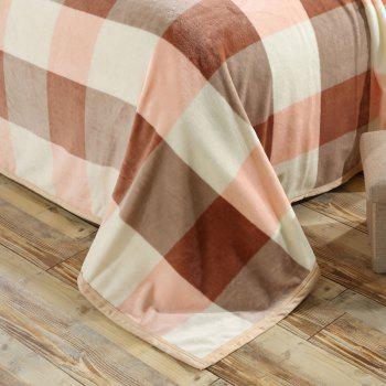 Bedroom Soft Fabric Plaid Throw Blanket - EURO KING EURO KING