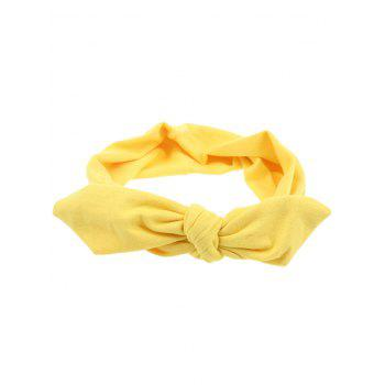 Multiuse Colored Bows Elastic Hair Band - YELLOW YELLOW