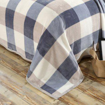 Bedroom Product Soft Plaid Throw Blanket - DOUBLE DOUBLE