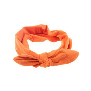 Multiuse Colored Bows Elastic Hair Band - ORANGE ORANGE