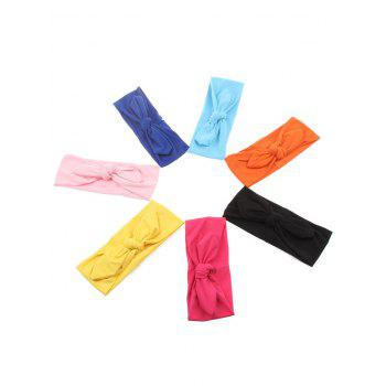 Multiuse Colored Bows Elastic Hair Band -  ROSE RED