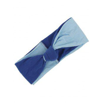 Multiuse Two Tone Elastic Hair Band - BLUE BLUE