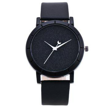 Glitter Powder Face Minimalist Watch - BLACK BLACK