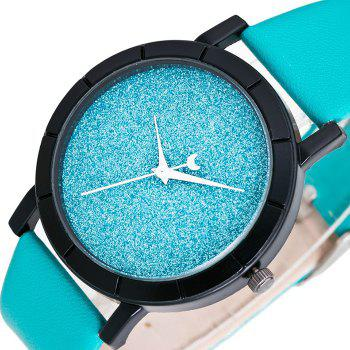 Glitter Powder Face Minimalist Watch -  AZURE