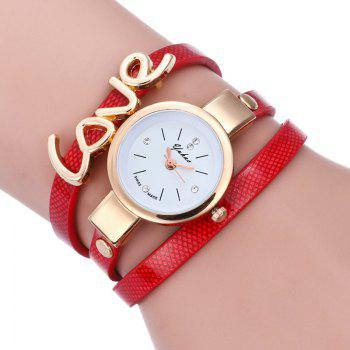 Love Wrap Bracelet Watch - RED RED