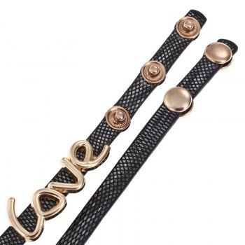 Love Wrap Bracelet Watch - BLACK