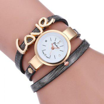 Love Wrap Bracelet Watch - BLACK BLACK