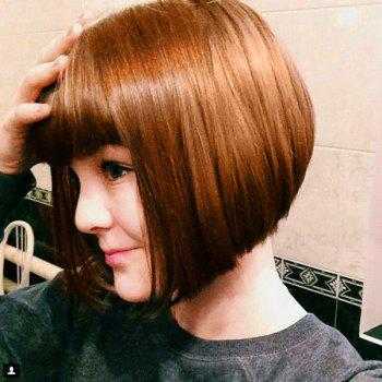 Full Bang Short Straight Blunt Bob Human Hair Wig - 30CM 30CM