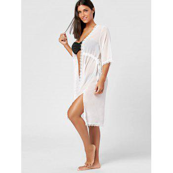 Mesh Beach Cover Up Kimono - ONE SIZE ONE SIZE