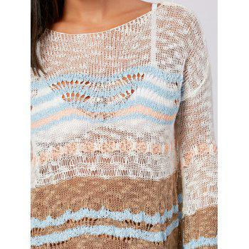 Flare Sleeve Crochet Cover Up Top - COLORMIX COLORMIX