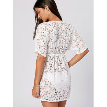 Lace Swimwear Cover Up Dress - ONE SIZE ONE SIZE