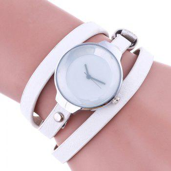 Layered Wrap Bracelet Watch - WHITE WHITE