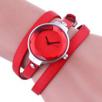Layered Wrap Bracelet Watch - RED RED