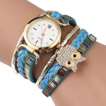 Owl Braided Bracelet Watch - AZURE AZURE