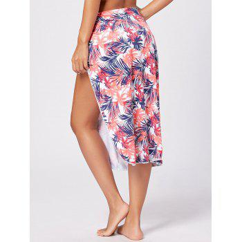Leaf Print Beach Cover Up - COLORMIX S