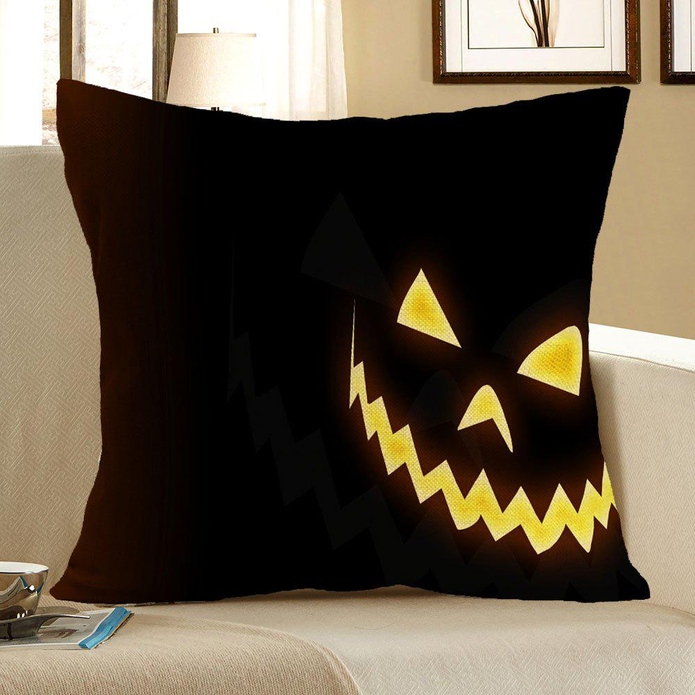 Halloween Pattern Square Pillow Case - YELLOW/BLACK W18 INCH * L18 INCH