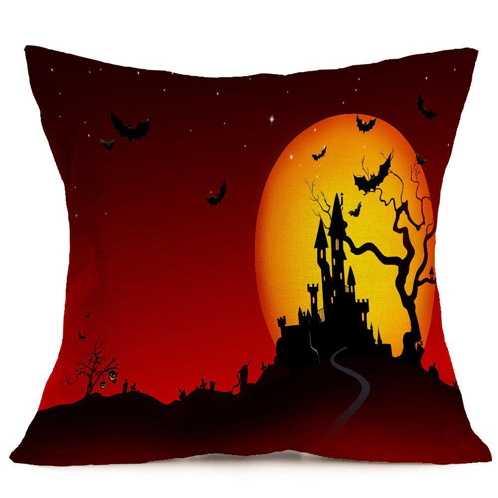 Halloween Castle Blood Starry Moon Printed Pillow Case - COLORFUL W18 INCH * L18 INCH