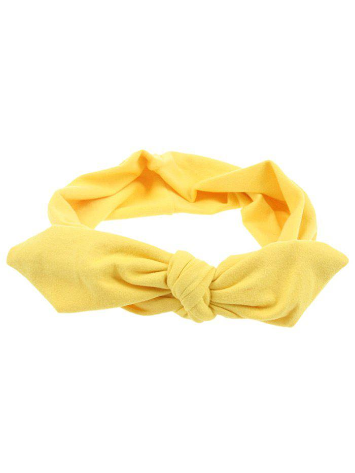 Multiuse Colored Bows Elastic Hair Band - YELLOW