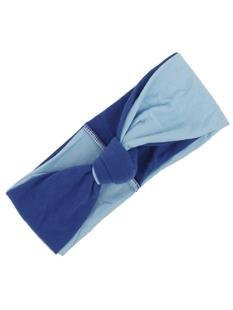 Multiuse Two Tone Elastic Hair Band - BLUE