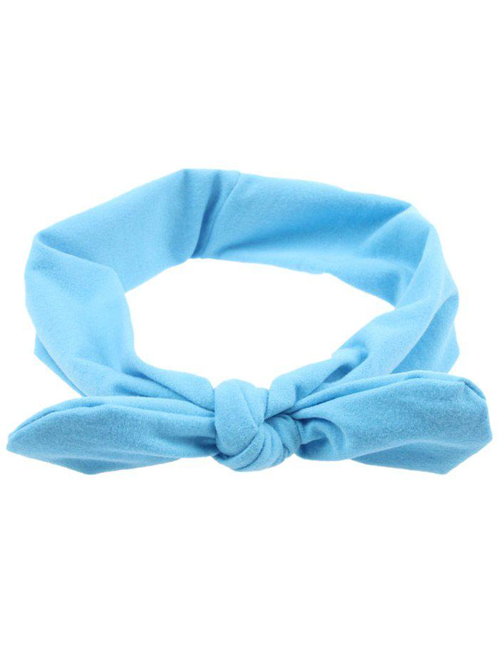 Multiuse Colored Bows Elastic Hair Band - LIGHT BLUE