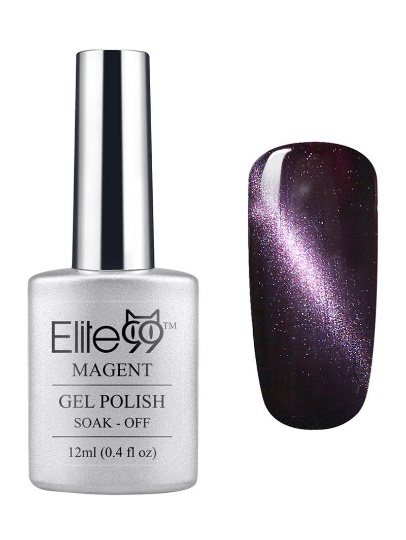 3D Soak Off UV LED Purple Series Magnetic Cat Eye Elite99 Gel Nail Polish -