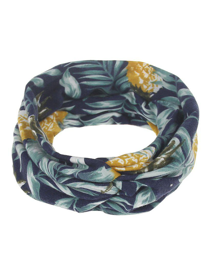 Leaf Printed Multiuse Elastic Hair Band -