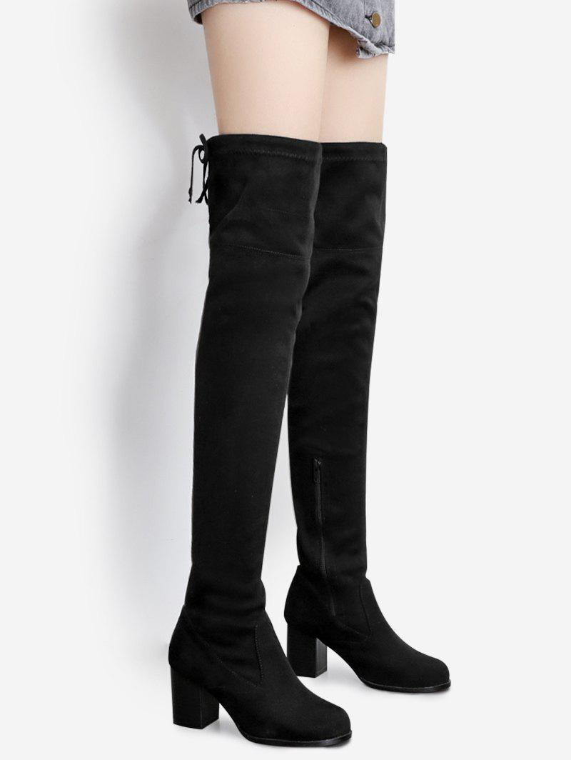 Pointed Toe Suede Over The Knee Boots nasipal 2017 new women pu sexy fashion over the knee boots sexy thin high heel boots platform woman shoes big size 34 43 g804