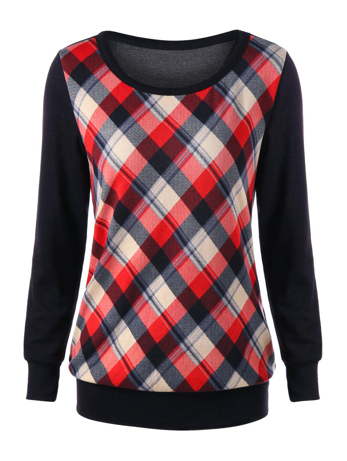elbow patch template - elbow patch plaid sweatshirt red xl in sweatshirts