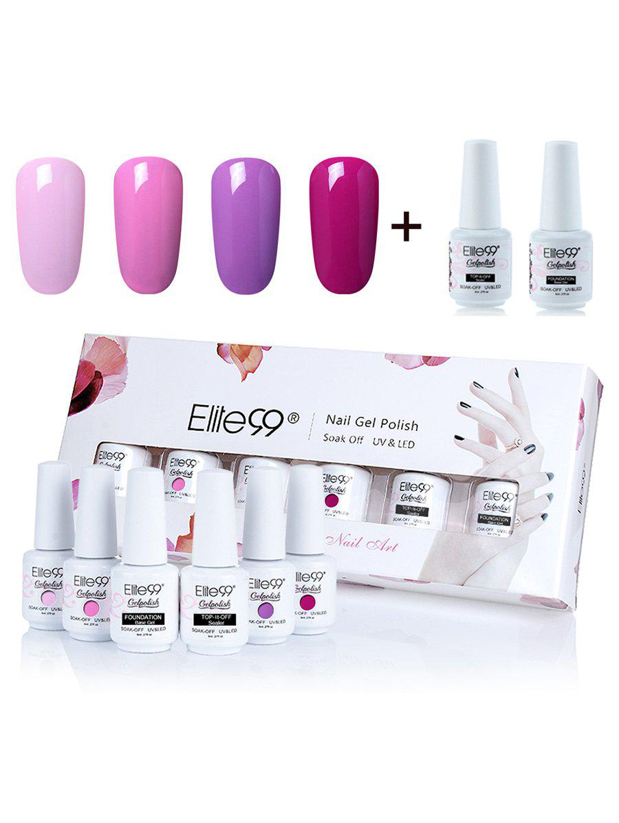 Elite99 UV LED Vernis à Ongle Gel à Tremper 8 ml Boîte Ensemble de Vernis à Ongles -