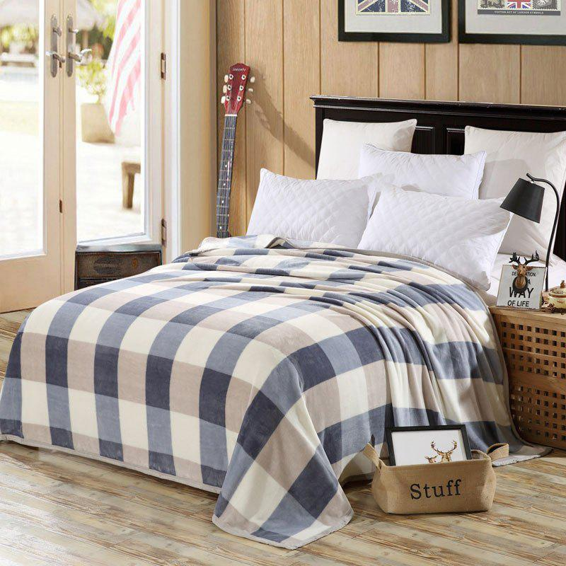 Bedroom Product Soft Plaid Throw Blanket - CHECKED EURO KING