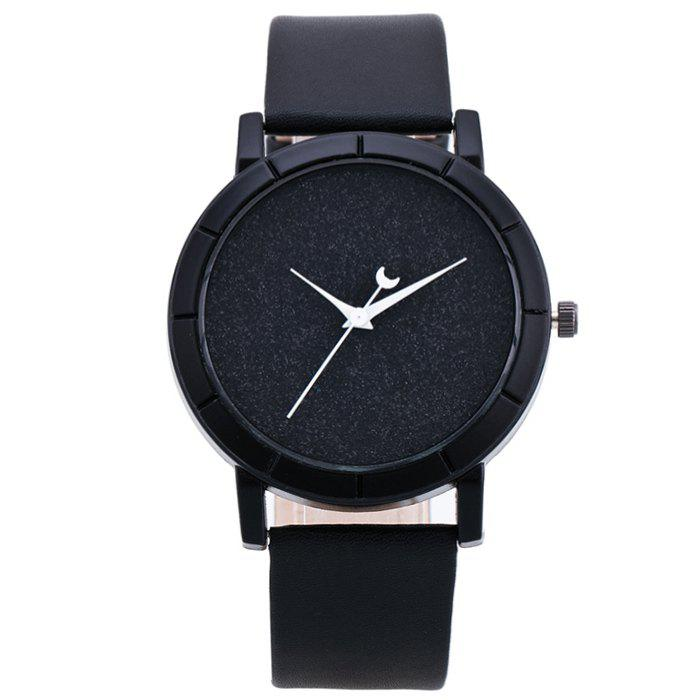 Glitter Powder Face Minimalist Watch - BLACK
