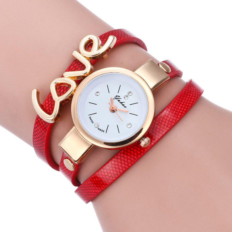 Love Wrap Bracelet Watch - RED