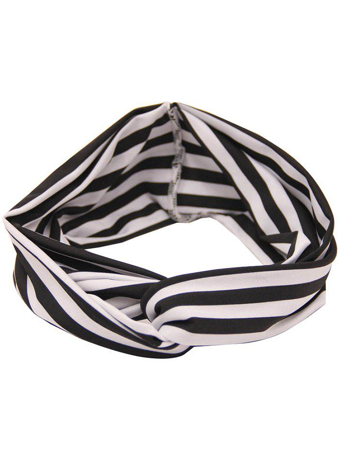 Two Tone Striped Multiuse Elastic Hair Band - STRIPE