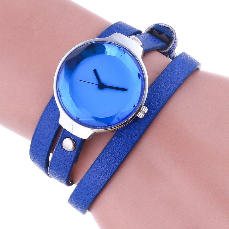 Layered Wrap Bracelet Watch - BLUE