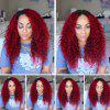 Long Free Part Fluffy Curly Colormix Synthetic Wig - DRAK WINE RED OMBRE
