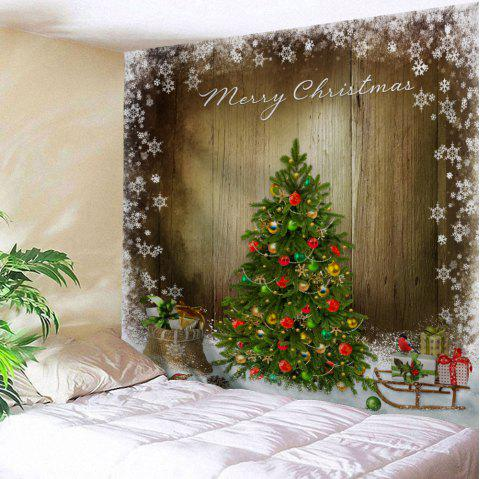 Christmas Tree Print Tapestry Wall Hanging Art - COLORMIX W91 INCH * L71 INCH
