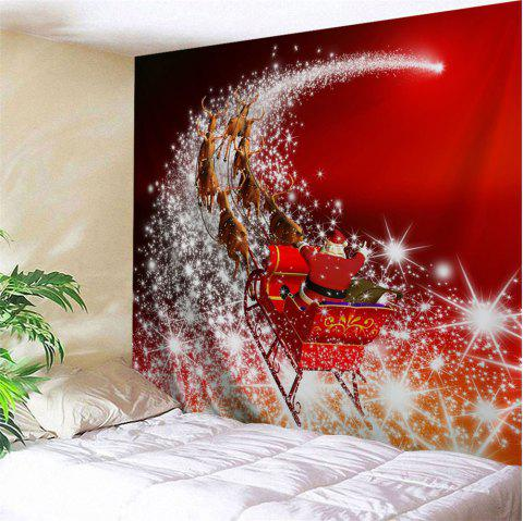 Wall Art Christmas Sled Tapestry - RED W79 INCH * L59 INCH